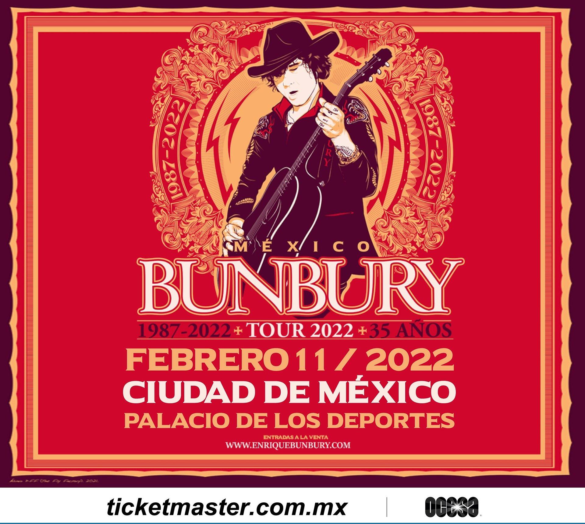 Enrique Bunbury regresa a México en 2022 para ofrecer una serie de conciertos