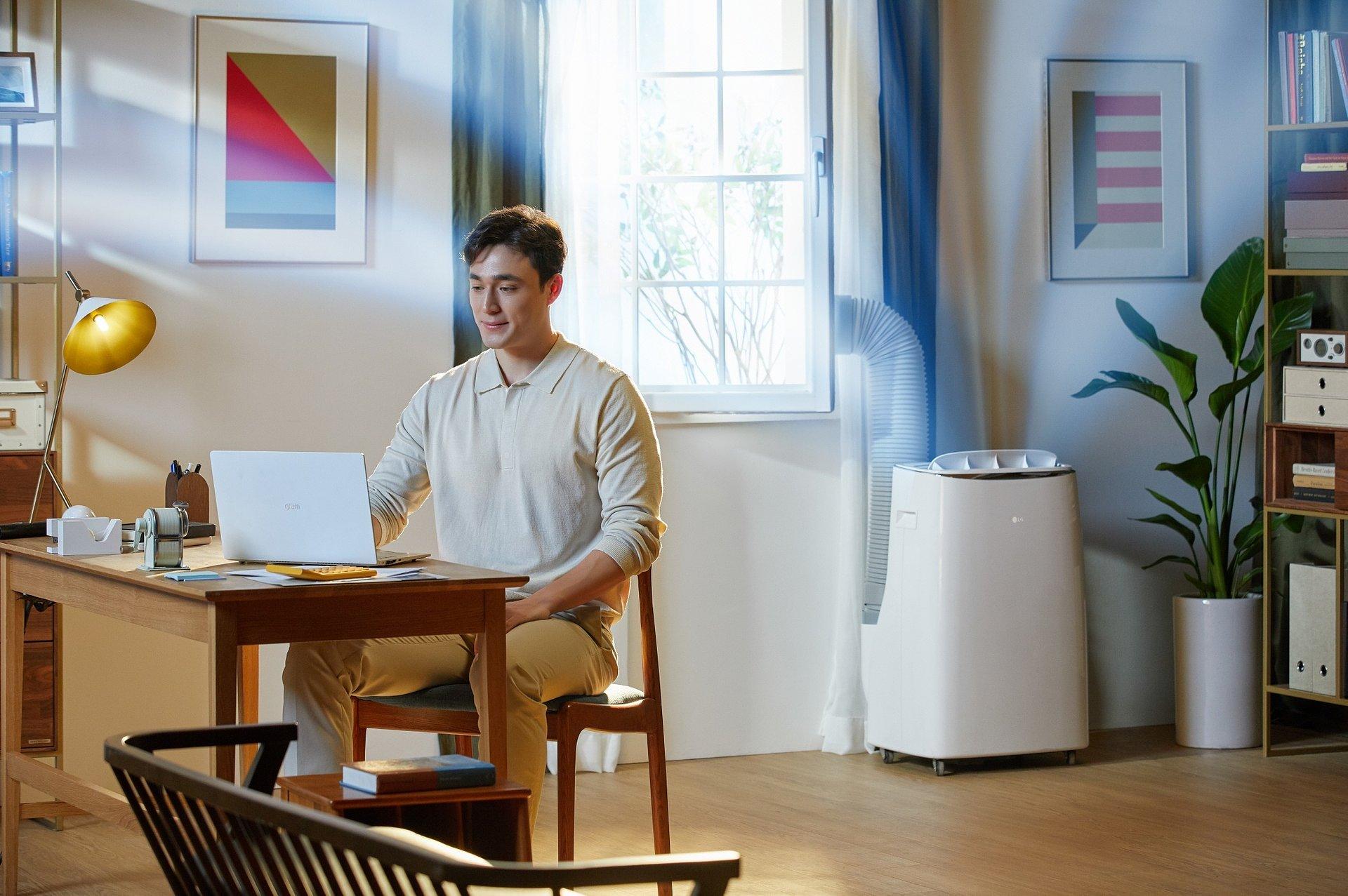 Przenośny klimatyzator LG DUAL Inverter zapewnia wydajne chłodzenie każdego pomieszczenia
