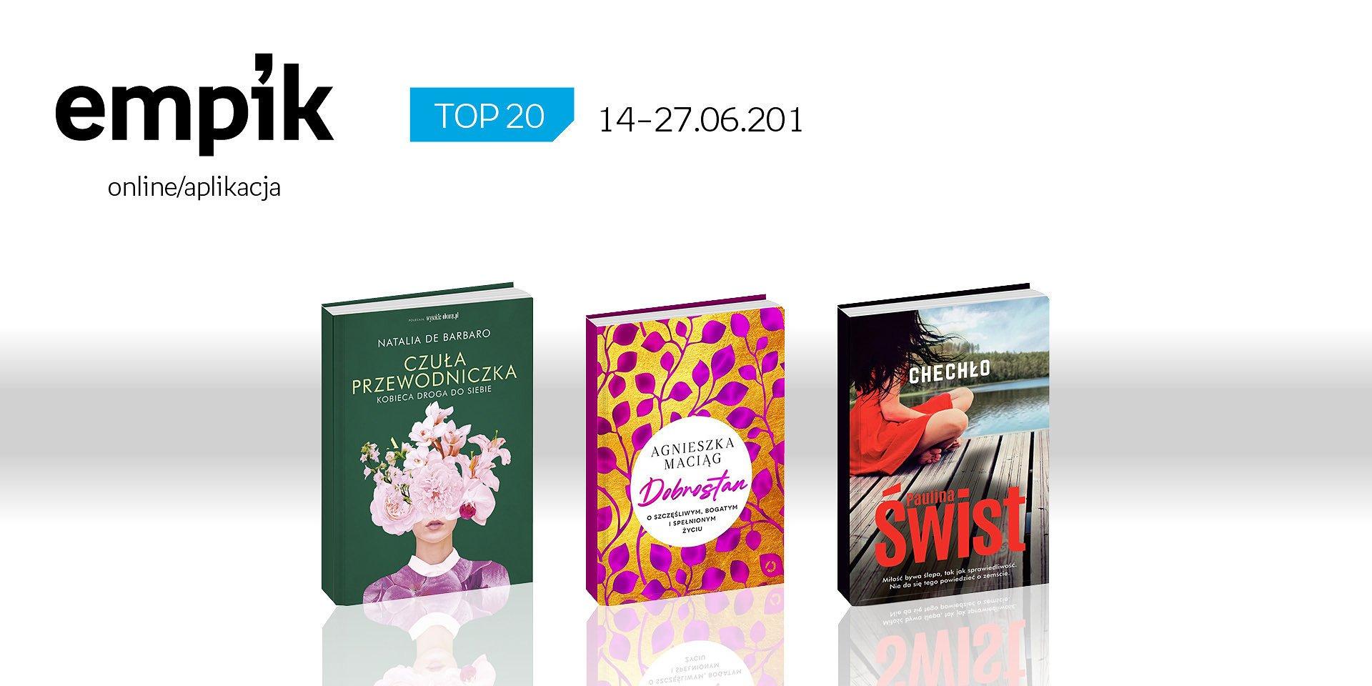 Książkowa lista TOP 20 na Empik.com za okres 14 – 27 czerwca