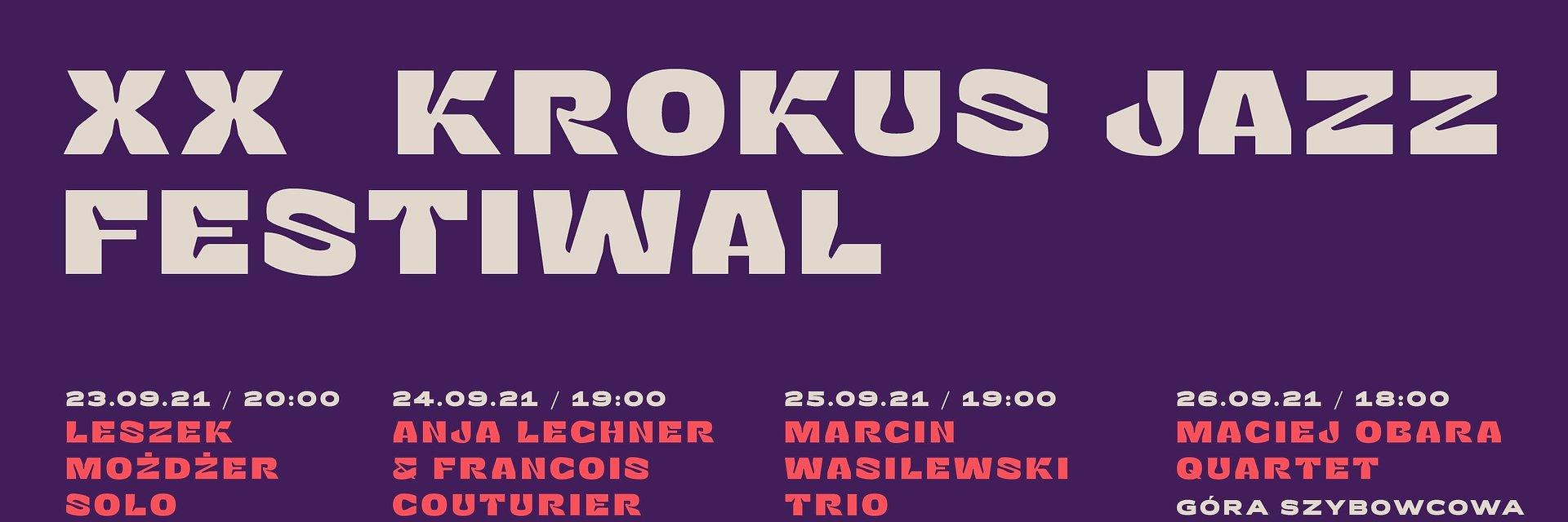 Krokus Jazz Festiwal ogłasza program