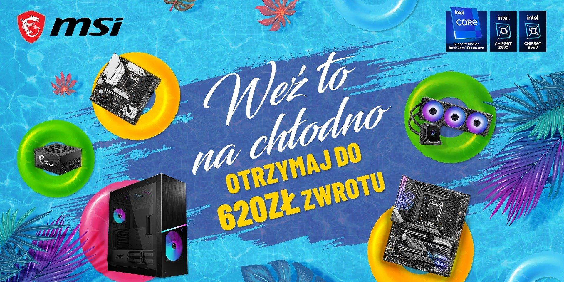 Weź to na chłodno z MSI – zgarnij nawet 620 złotych za zakup sprzętu!