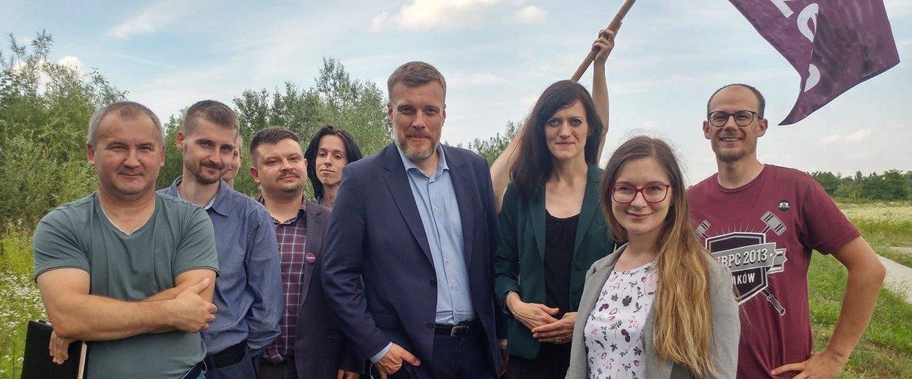 Posłowie Razem przeciwko betonowaniu przyrody w Lublinie