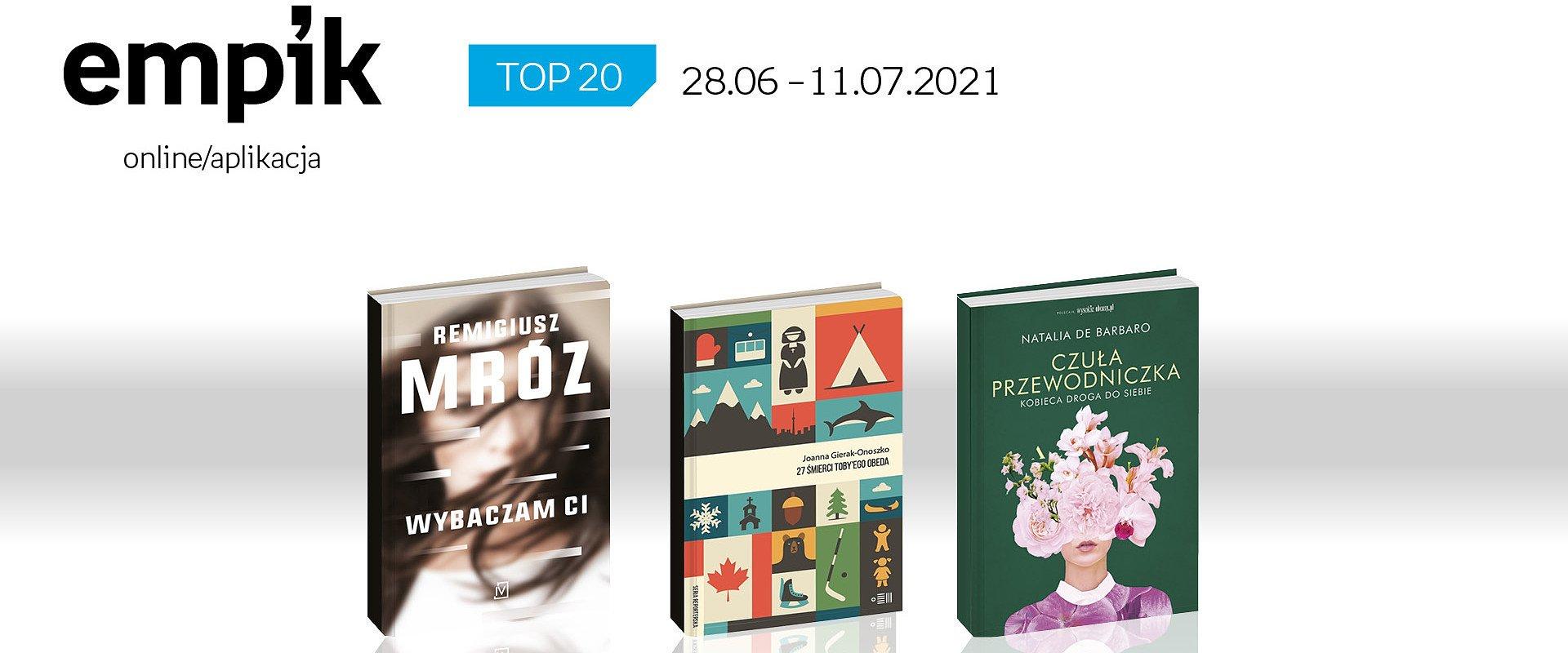 Książkowa lista TOP 20 na Empik.com za okres 28 czerwca – 11 lipca