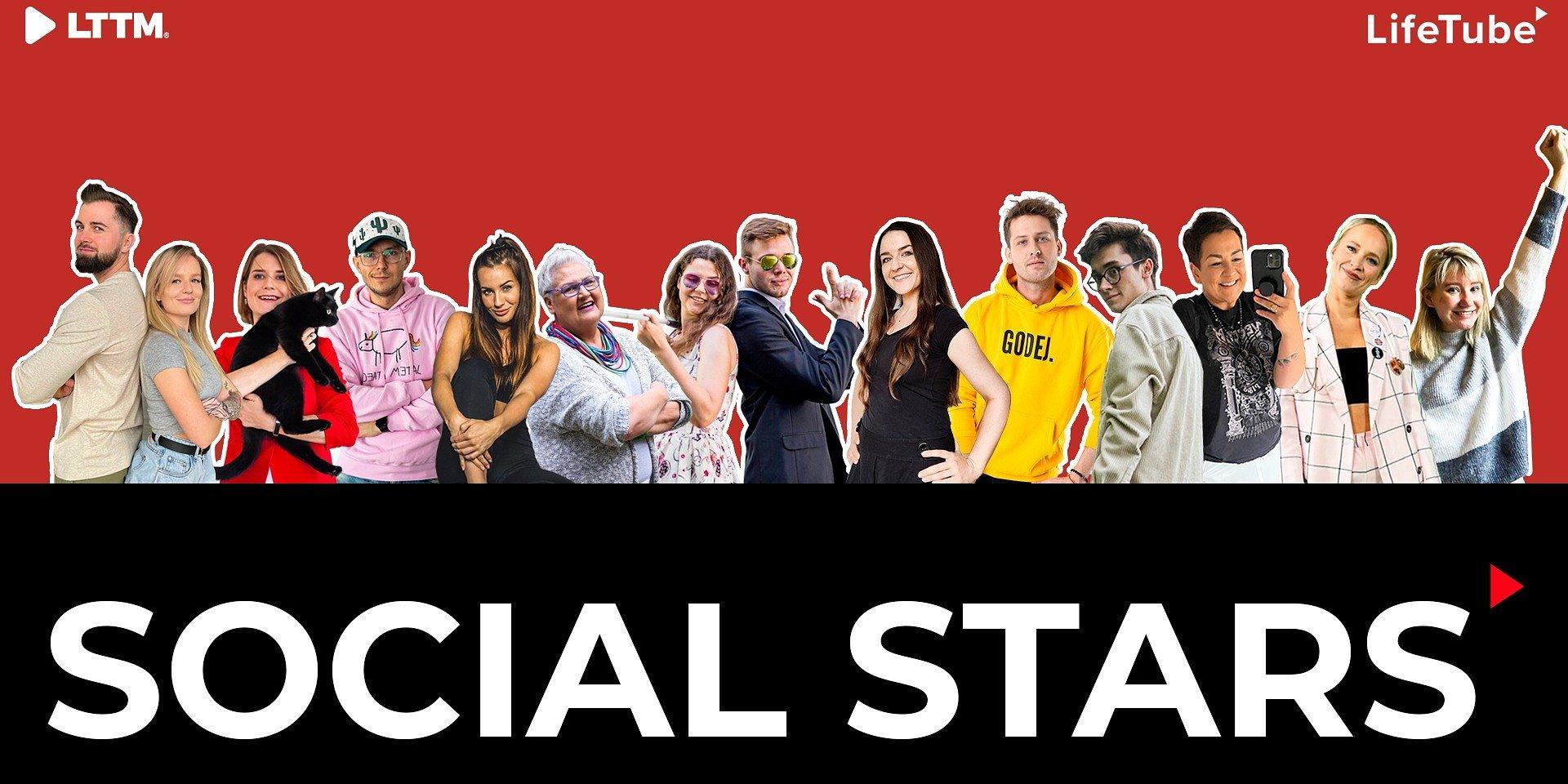 """LIFETUBE PRZENOSI GWIAZDY SOCIAL MEDIA NA YOUTUBE'A - rusza kolejnych 6 kanałów w ramach programu """"Social Stars"""""""