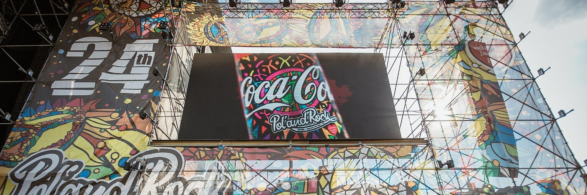 Coca-Cola ponownie orzeźwi uczestników Festiwalu Pol'and'Rock!