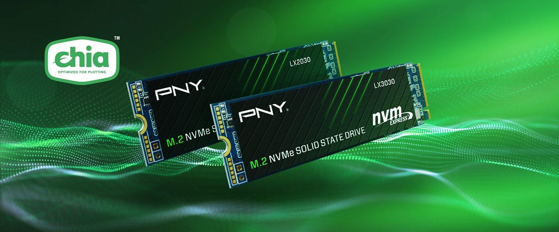 Dyski SSD PNY LX2030 i LX3030 M.2 NVMe Gen3 x4 - większa wytrzymałość dla twoich potrzeb w zakresie plotowania Chia® Coin