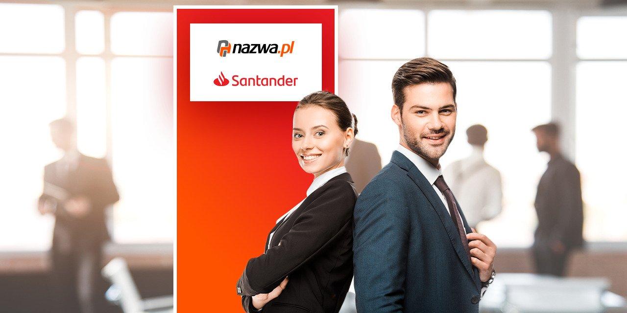 Szybkie usługi IT w atrakcyjnych cenach od nazwa.pl dla Klientów Santander Bank Polska