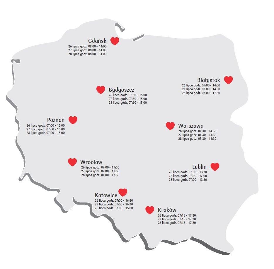 26 lipca rusza Bankowa Akcja Honorowego Krwiodawstwa w Białymstoku. Oddaj krew i pomóż potrzebującym!