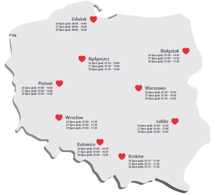 26 lipca rusza Bankowa Akcja Honorowego Krwiodawstwa w Bydgoszczy. Oddaj krew i pomóż potrzebującym!