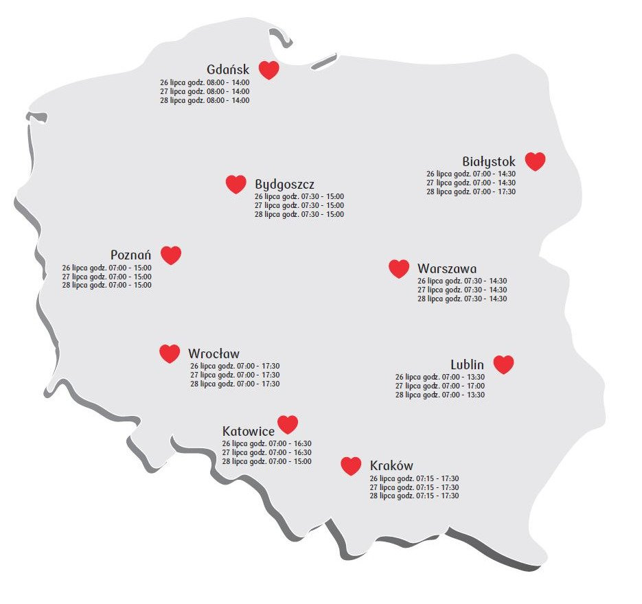 26 lipca rusza Bankowa Akcja Honorowego Krwiodawstwa w Gdańsku. Oddaj krew i pomóż potrzebującym!