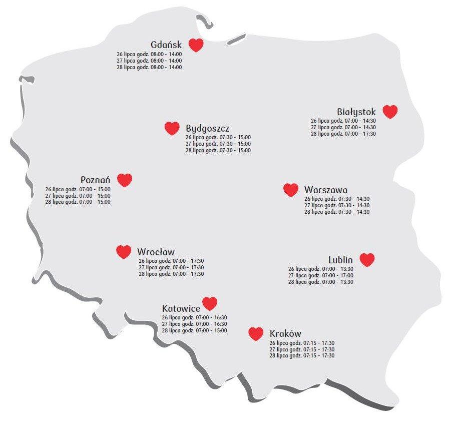 26 lipca rusza Bankowa Akcja Honorowego Krwiodawstwa w Katowicach. Oddaj krew i pomóż potrzebującym!