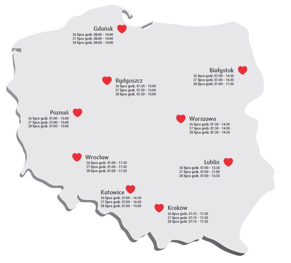 26 lipca rusza Bankowa Akcja Honorowego Krwiodawstwa w Krakowie. Oddaj krew i pomóż potrzebującym!