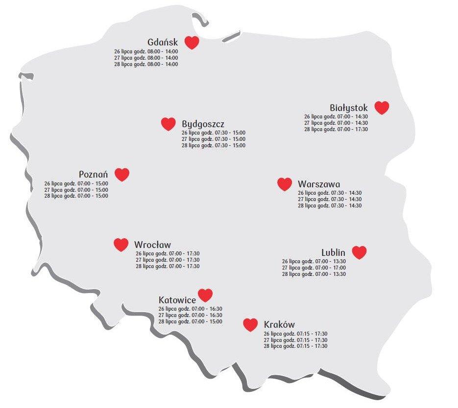 26 lipca rusza Bankowa Akcja Honorowego Krwiodawstwa w Lublinie. Oddaj krew i pomóż potrzebującym!