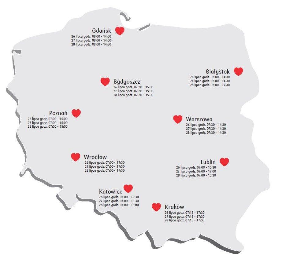 26 lipca rusza Bankowa Akcja Honorowego Krwiodawstwa w Poznaniu. Oddaj krew i pomóż potrzebującym!