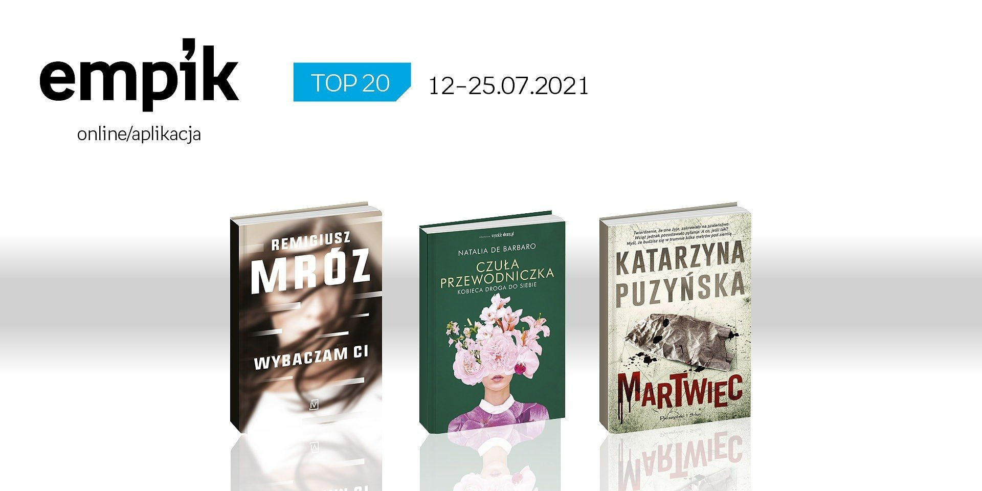 Książkowa lista TOP 20 na Empik.com za okres 12 – 25 lipca