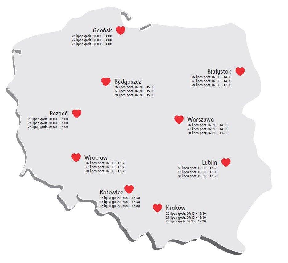 Już 26 rusza Bankowa Akcja Honorowego Krwiodawstwa w 9. miastach Polski