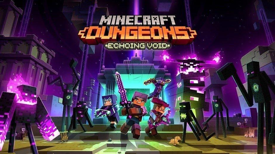 """""""Minecraft Dungeons"""" Echoing Void DLC disponível agora!"""