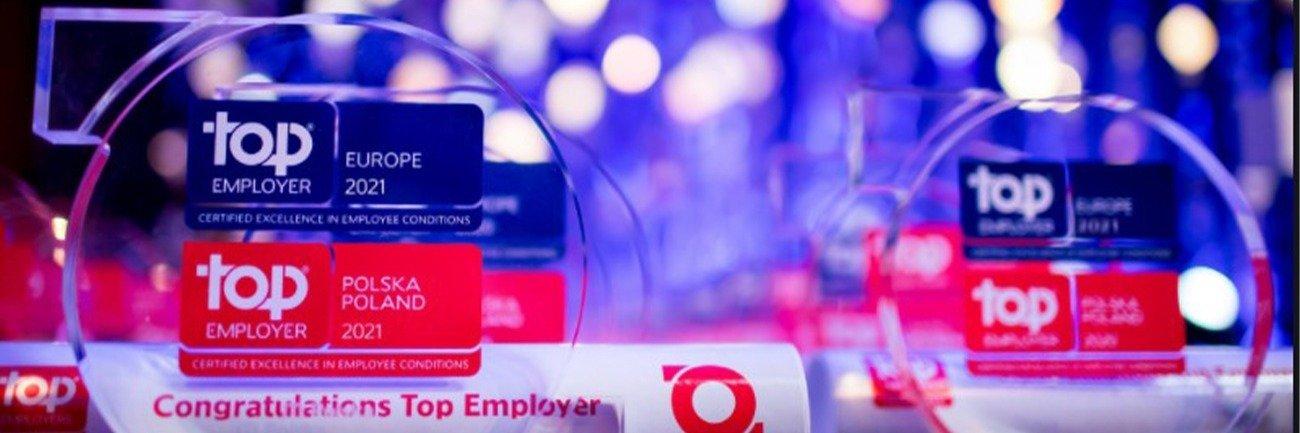 Angelini z certyfikatem Top Employer 2021