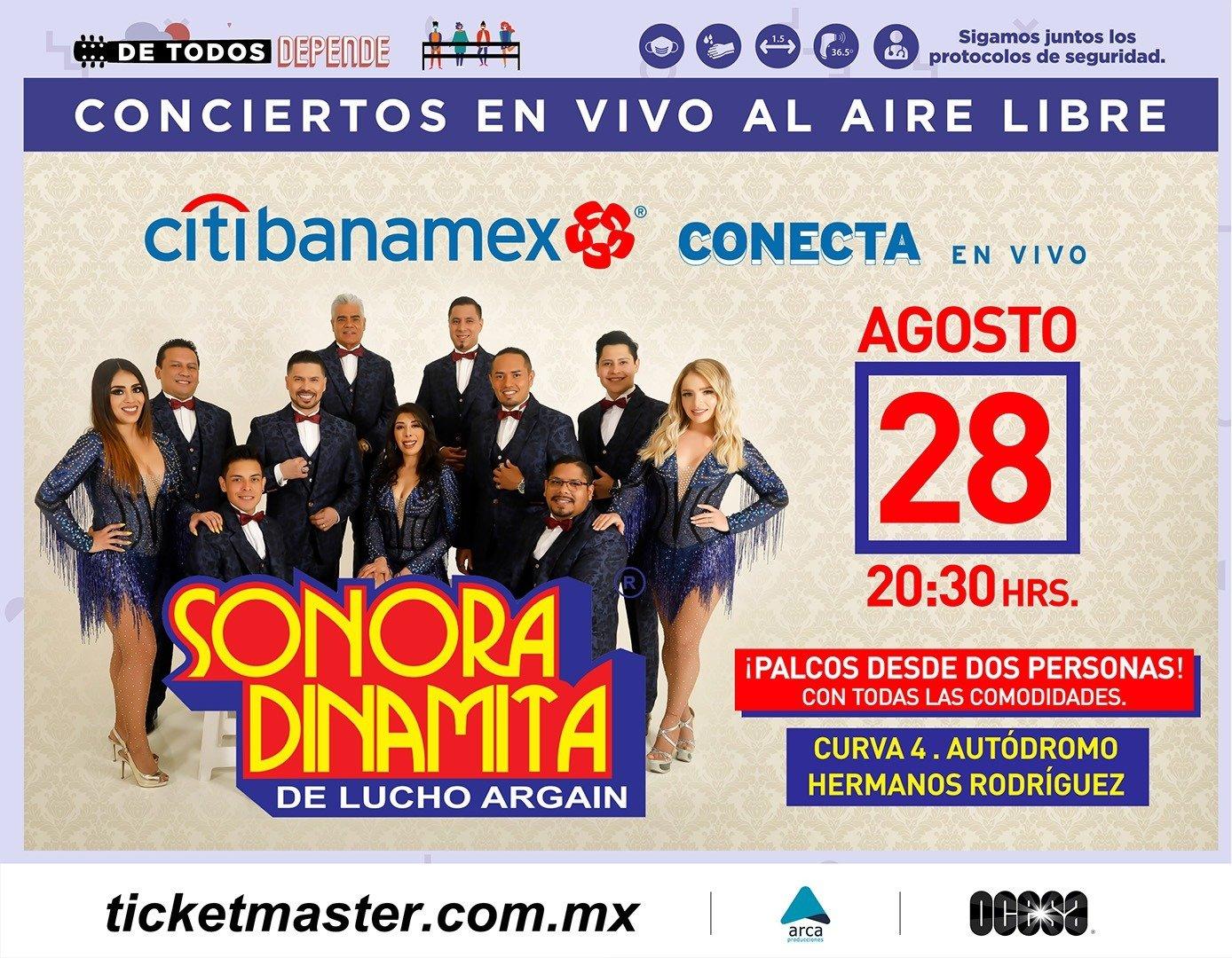 Fiesta, baile y sabor con La Sonora Dinamita de Lucho Argaín y Elsa López en la capital mexicana