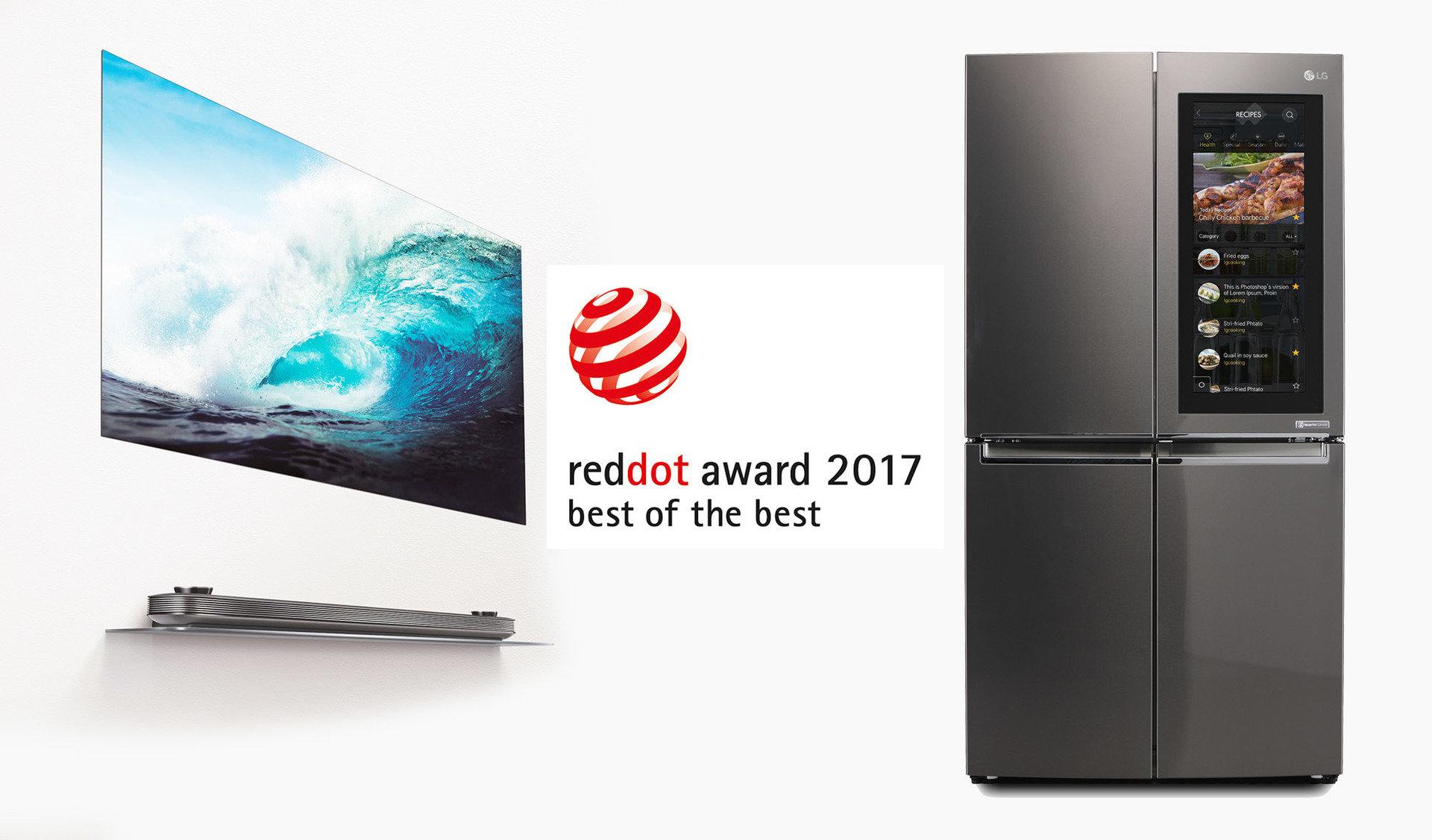 """Produkty LG z nagrodami """"BEST OF THE BEST"""" w prestiżowych konkursie RED DOT AWARDS"""
