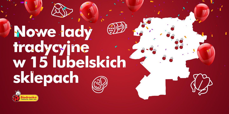 Tradycyjne lady w kilkunastu sklepach sieci Biedronka w Lublinie