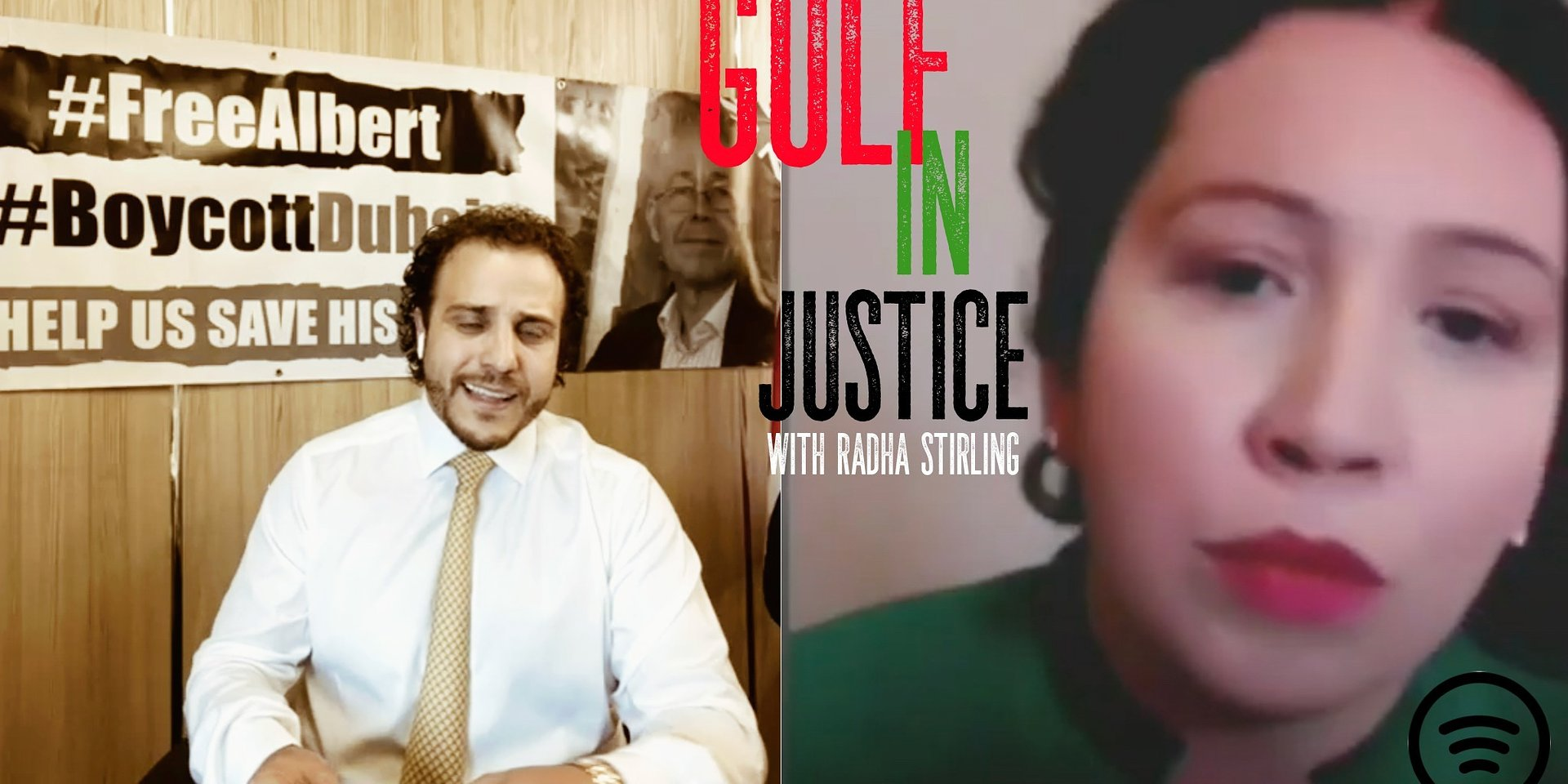 Gulf in Justice Podcast with Radha Stirling - Shocking interview with Wolfgang Douglas on the #FreeAlbert campaign