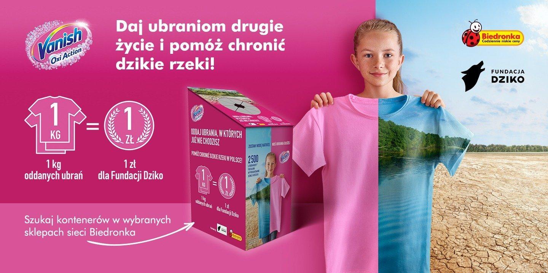 Oddaj niepotrzebne ubrania w sklepach Biedronka i pomóż ratować dzikie rzeki w Polsce!