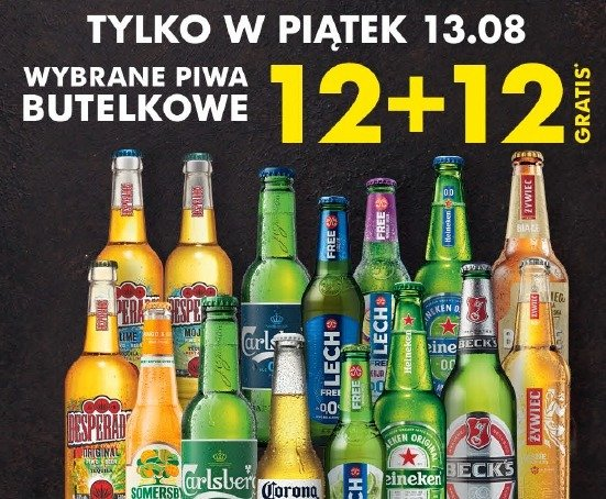 Biedronka odczarowuje piątek trzynastego. Nawet 12 piw gratis z kartą Moja Biedronka