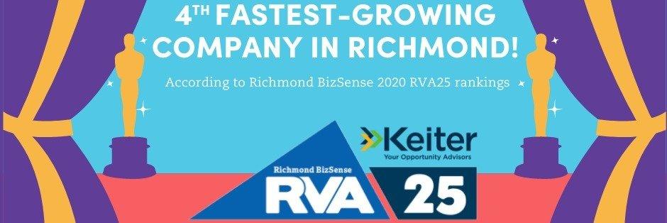 "Terazo Named Richmond's 4th Fastest Growing Company By Richmond BizSense In 2020 ""RVA 25"" Rankings"