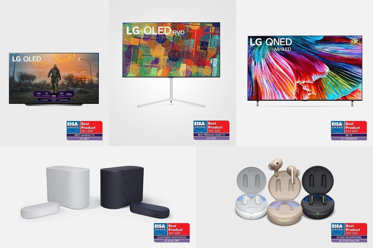 LG docenione za dekadę innowacji w kategorii telewizorów podczas 2021 EISA Awards
