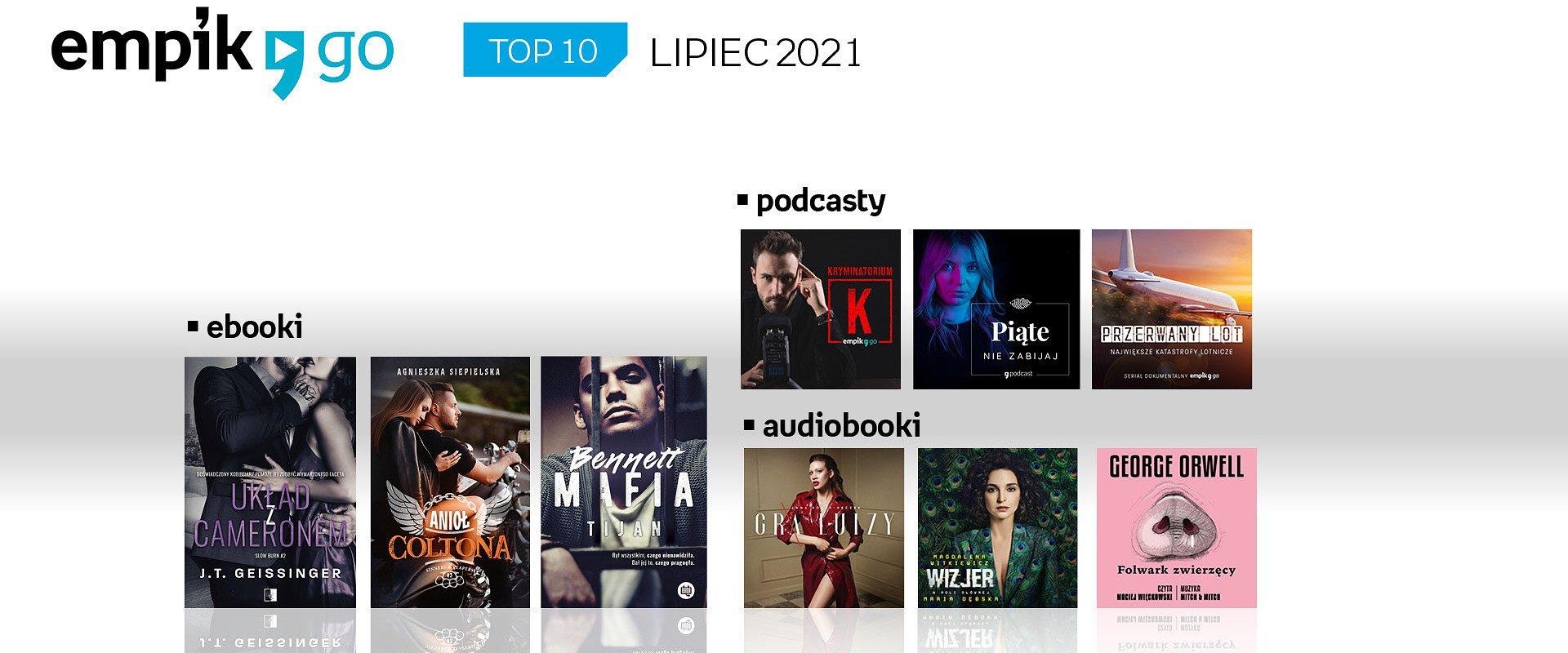Lista TOP 10 audiobooków, e-booków i podcastów w aplikacji Empik Go w lipcu