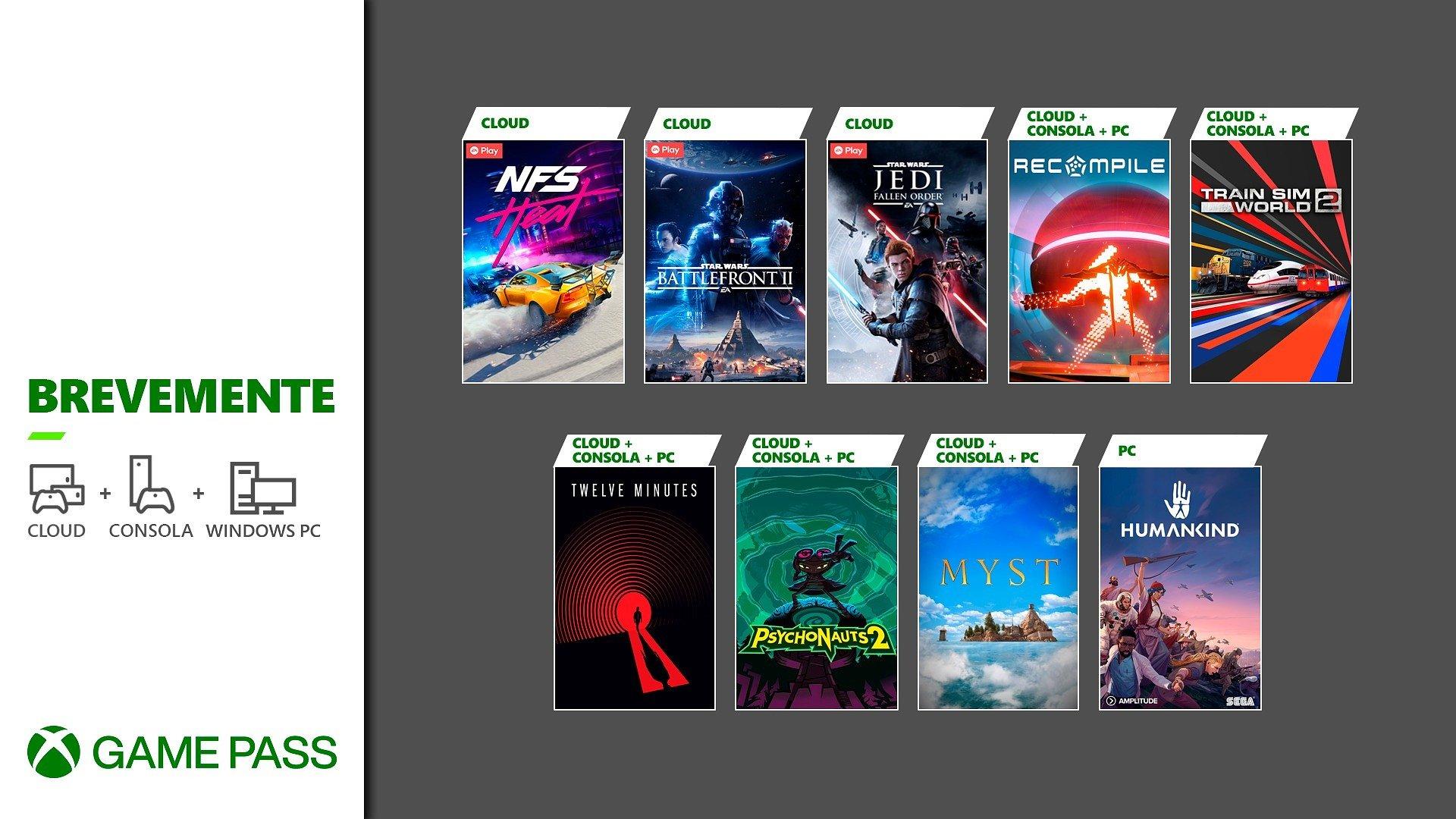 Brevemente no Xbox Game Pass
