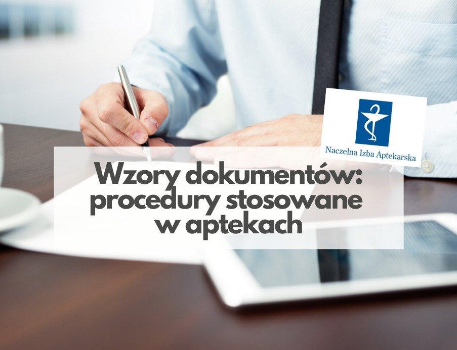 Wzory dokumentów: procedury stosowane w aptekach