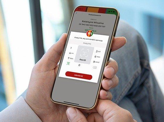 Operacje w aplikacji mobilnej potwierdzisz odciskiem palca lub skanem twarzy