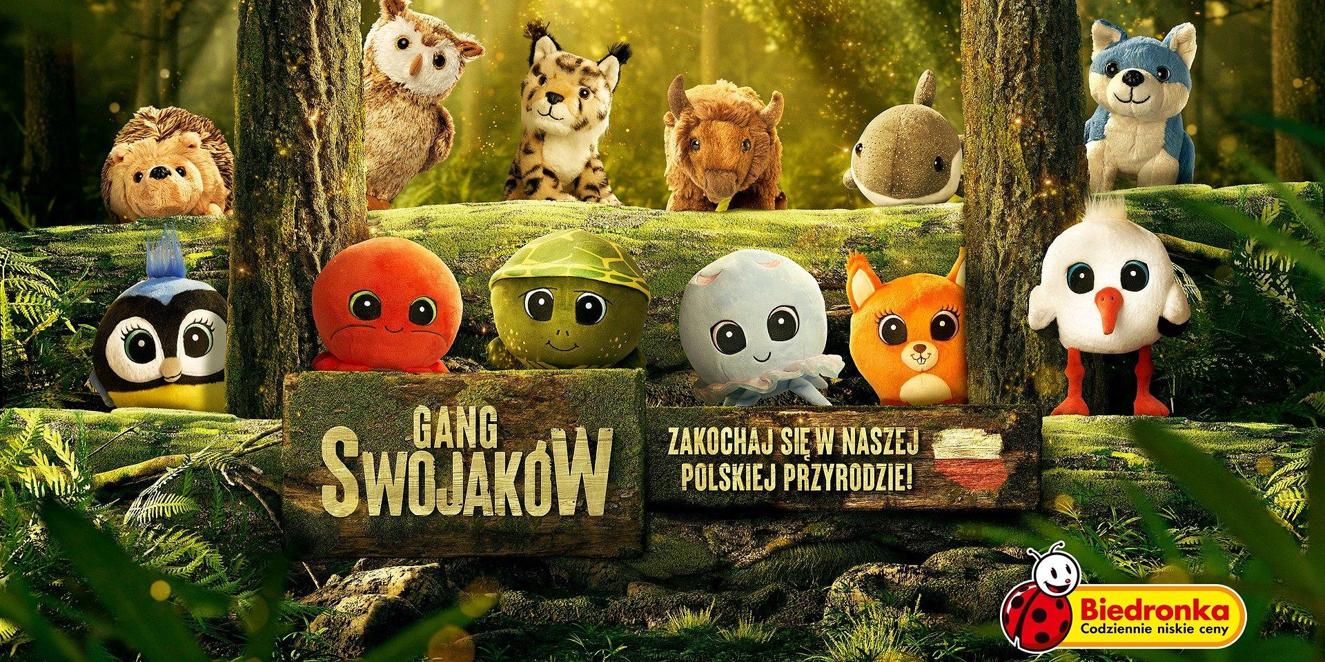 Nadciąga Gang, który pomaga polskim zwierzętom. Biedronka przedstawia Swojaki