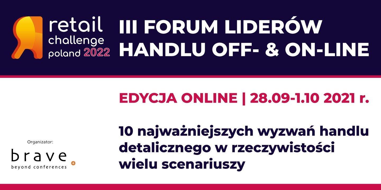 Retail Challenge Poland 2022 - wydarzenie objęte Patronatem Medialnym przez Domodi odbędzie się online 28.09-1.10.2021. Zapraszamy do wzięcia udziału!