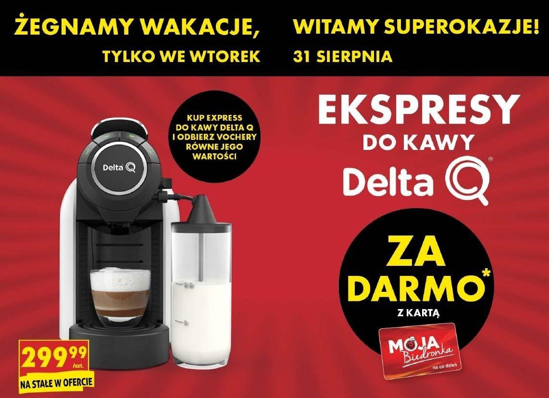 Biedronka rozdaje nawet 299 zł. Wystarczy kupić ekspres do kawy Delta Q