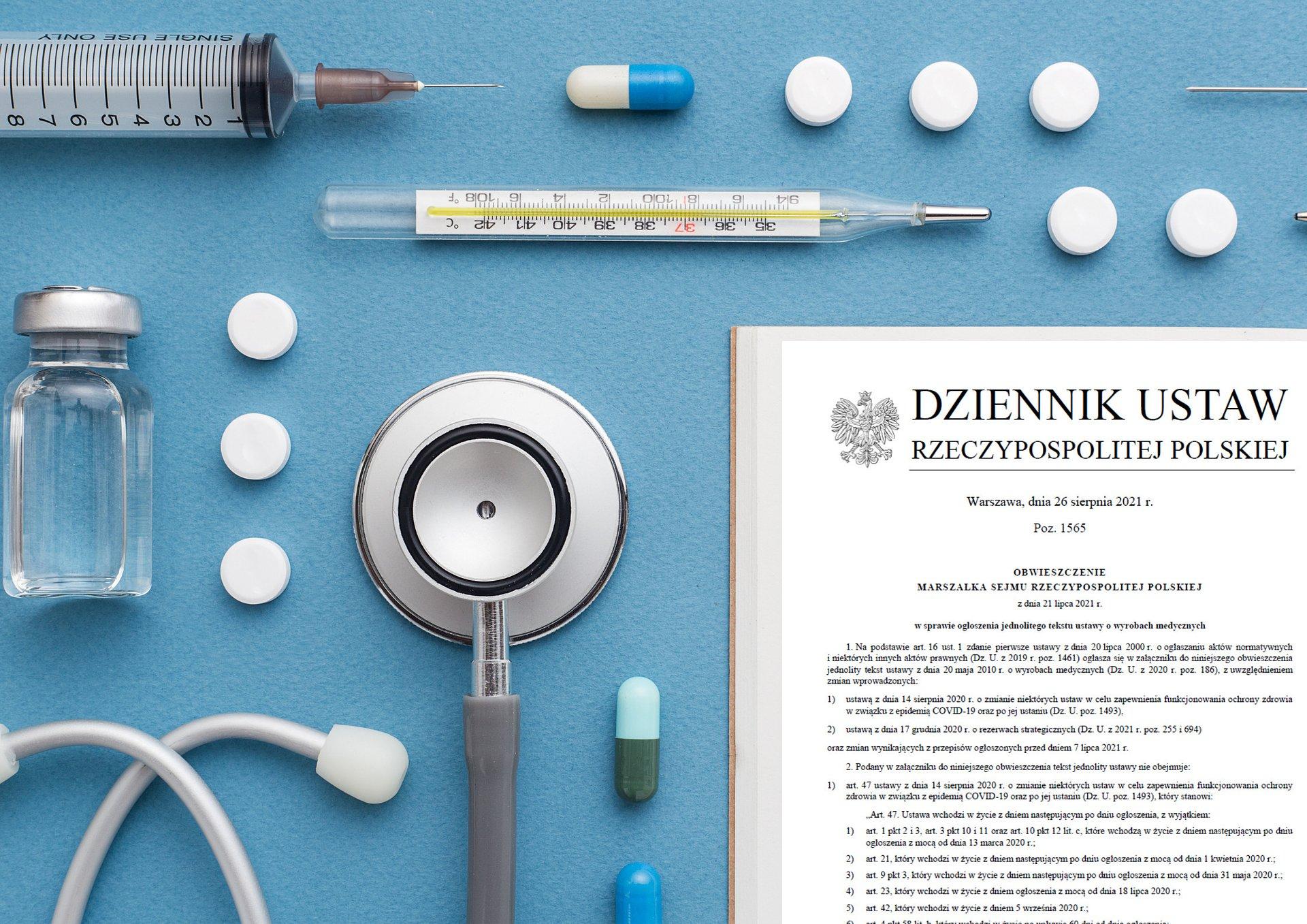 Jednolity tekst ustawy o wyrobach medycznych