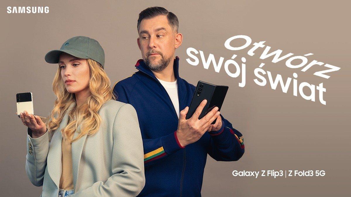 Otwórz swój świat i odważ się kwestionować przyzwyczajenia – Maffashion i Wojtek Sokół w kampanii Galaxy Z Fold3 5G i Z Flip3 5G