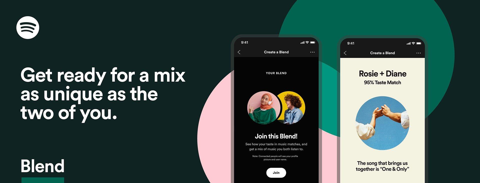 """Spotify """"Blend"""": Lieblingsmusik für Lieblingsmenschen"""