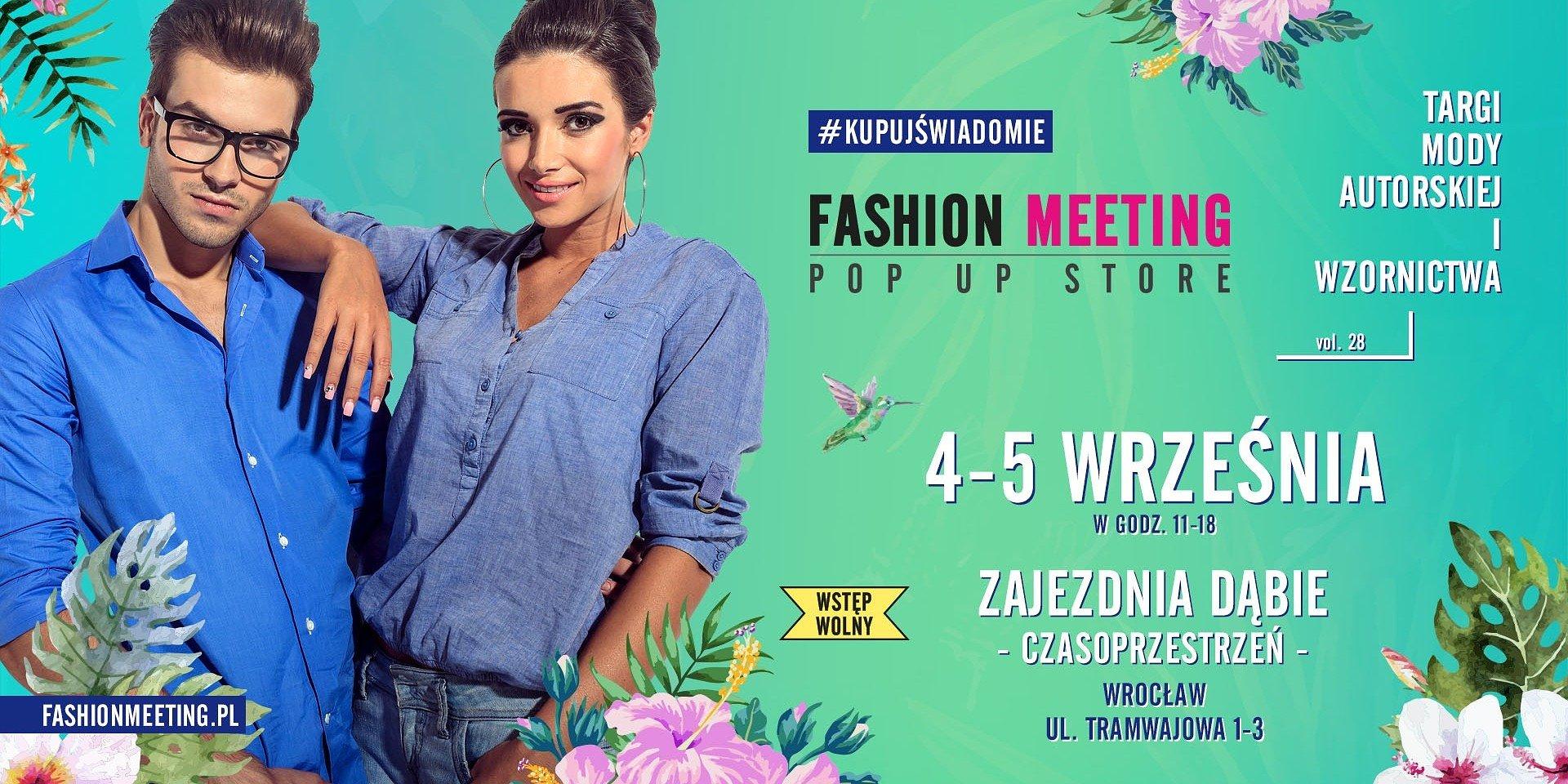 Targi mody autorskiej Fashion Meeting - Domodi patronem medialnym wydarzenia