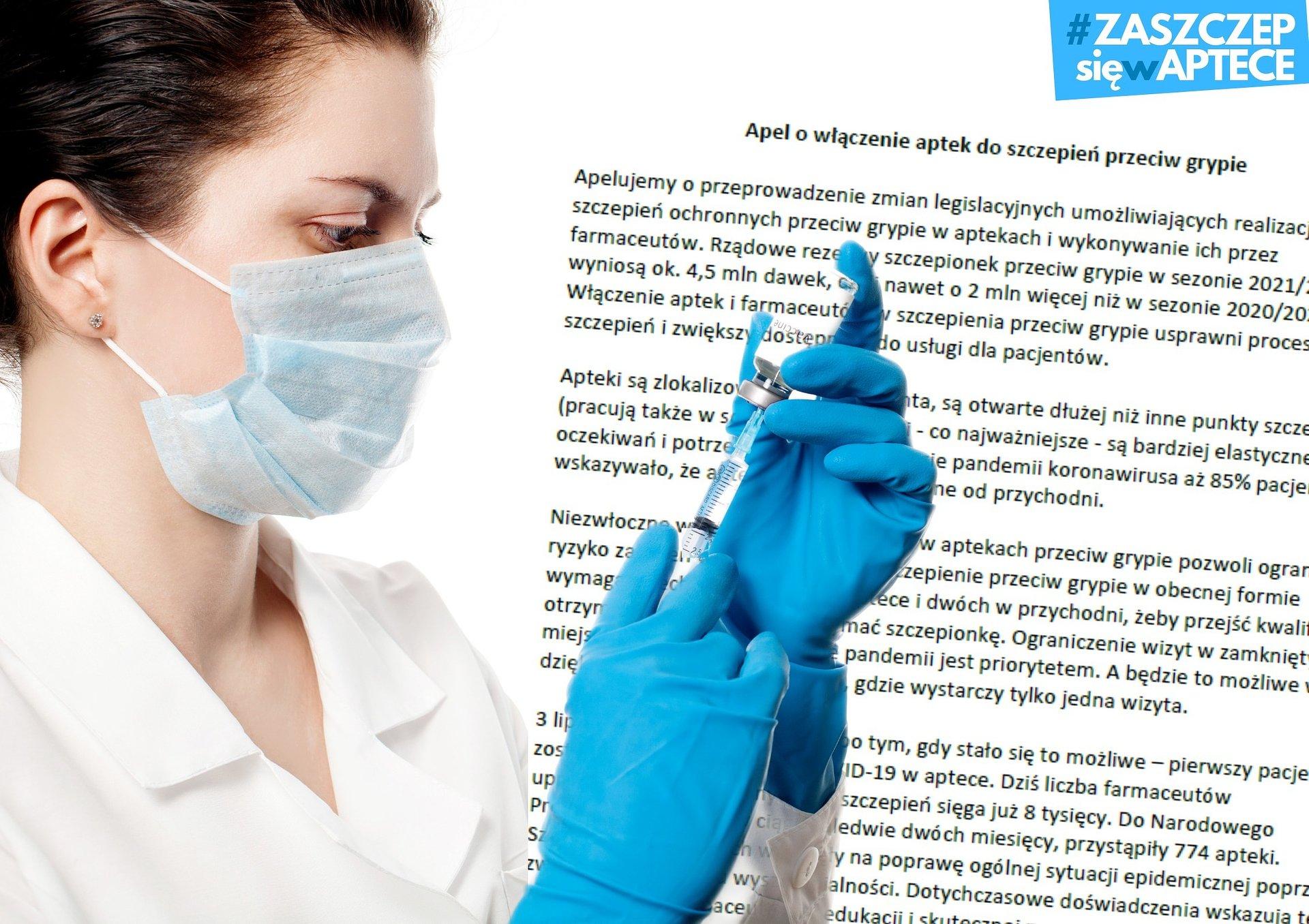 Apelujemy o włączenie aptek i farmaceutów do szczepień przeciw grypie!