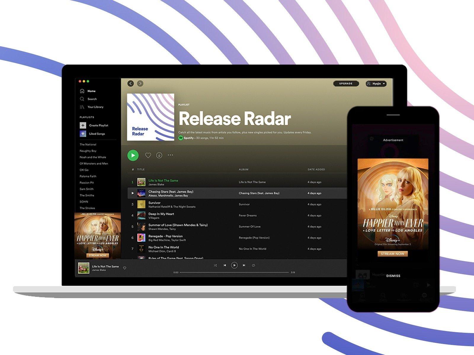 """Spotify Playlist """"Release Radar"""" für Werbetreibende buchbar I Culture Next Trend Report 2021"""