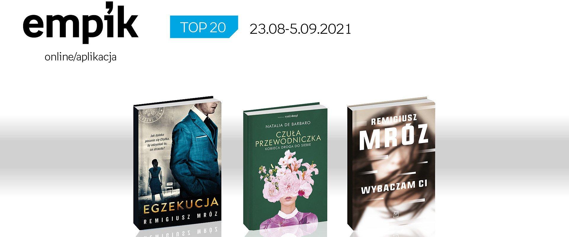 Książkowa lista TOP20 na Empik.com za okres 23 sierpnia - 5 września