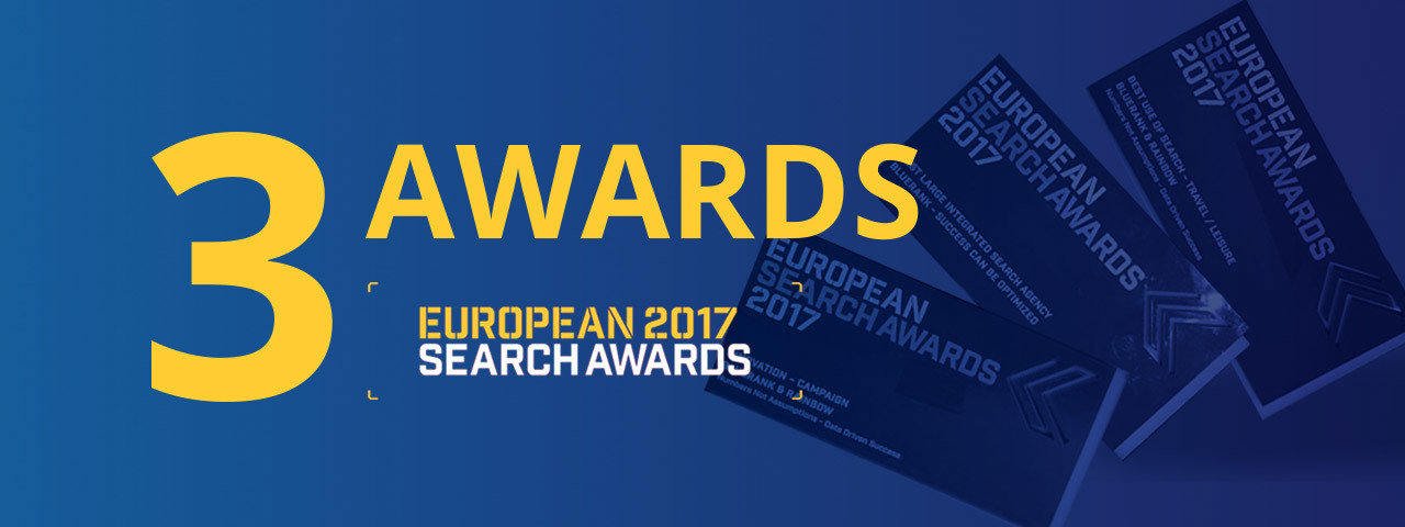 3 awards in the European Search Awards 2017 for Bluerank
