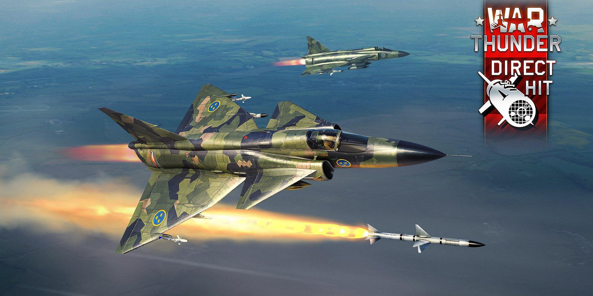 Hra War Thunder si získava srdcia fanúšikov švédskeho letectva