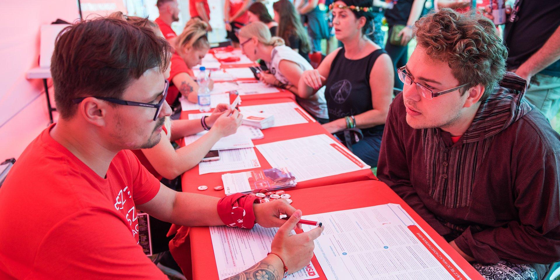 Bone marrow donor registration is a staple at Grand Finale fundraisers and festivals!