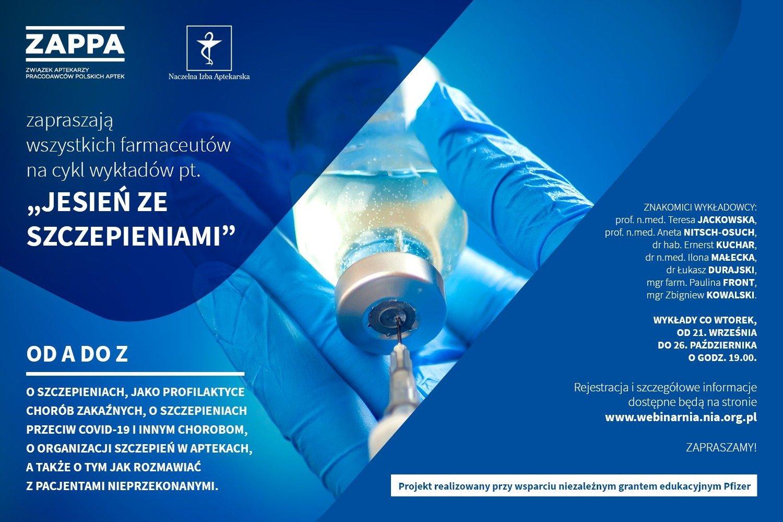 ZAPPA rusza z cyklem wykładów o szczepieniach