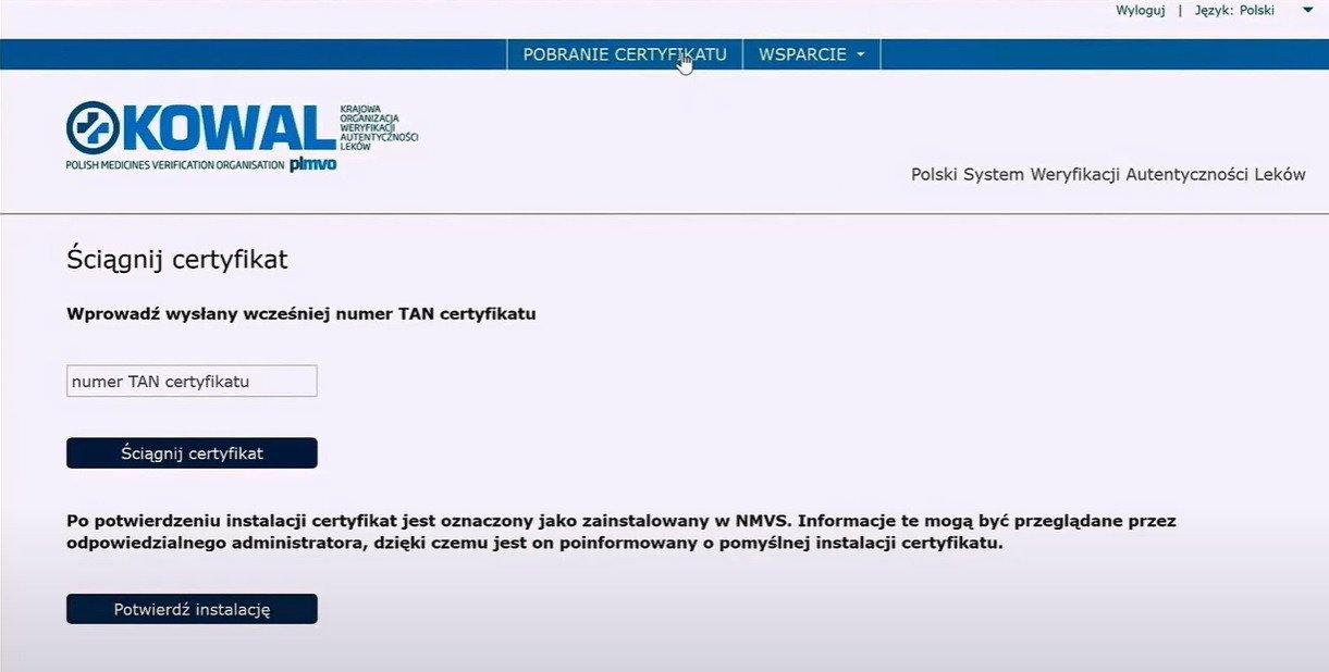 Certyfikat dostępowy do systemu PLMVS. Fundacja Kowal przypomina