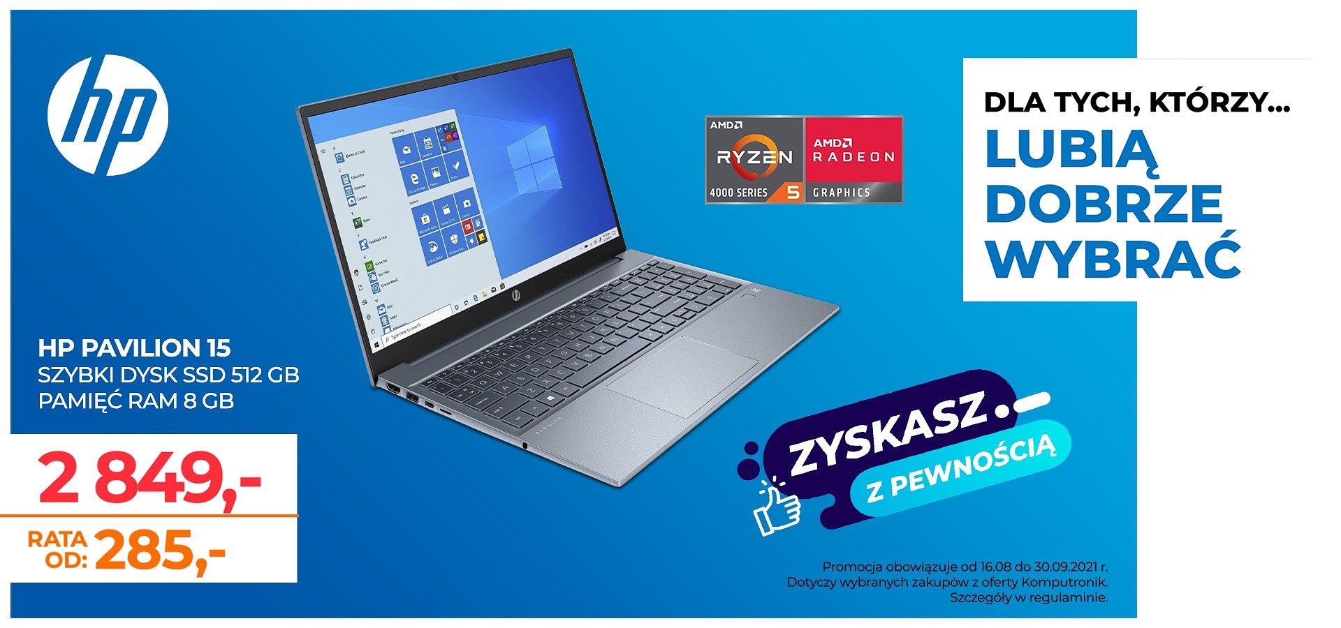 Szukasz niezawodnego komputera do pracy?Wybierz laptopa HP Pavilion i zaoszczędź nawet 600 zł!